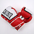 Excalibur Pro Series Leather Boxing Gloves Red