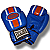 Blue Leather Boxing Gloves