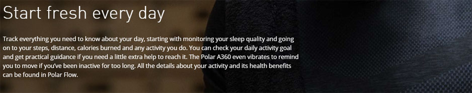 Polar A360 - Start fresh every day