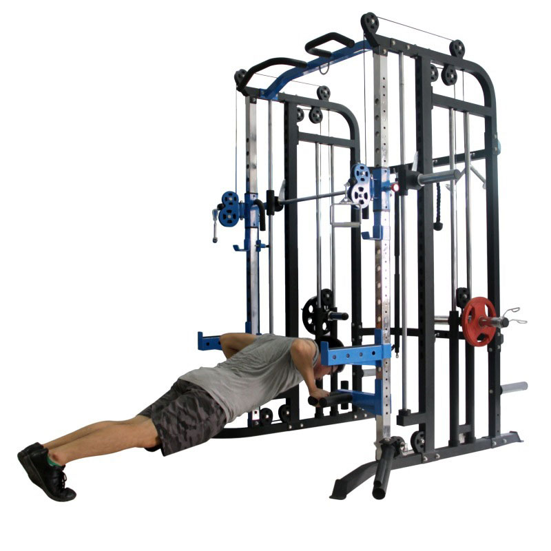 Aquila AQS880 - demonstrating pushup and dip handles (adjustable height)
