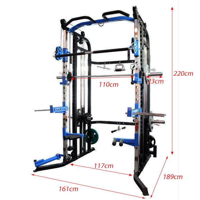 Aquila AQS880 functional trainer - dimensions