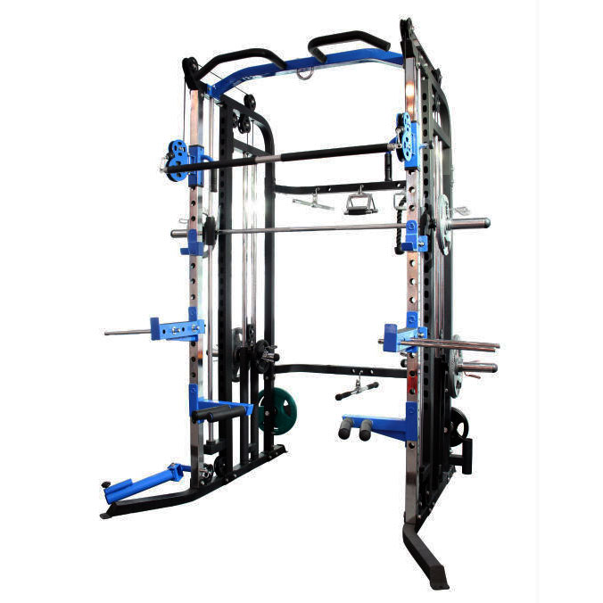 Aquila AQS880 multi-functional smith rack (weights for illustrative purposes only)