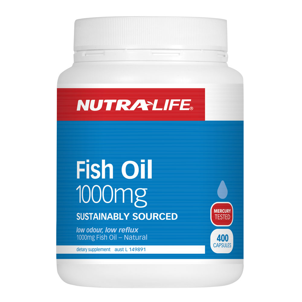 Nutra Life Fish Oil 1000mg Capsules