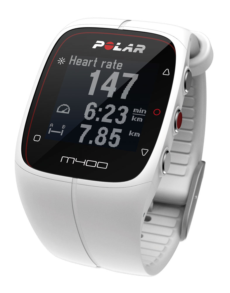 Polar M400 Heart Rate Monitor - White