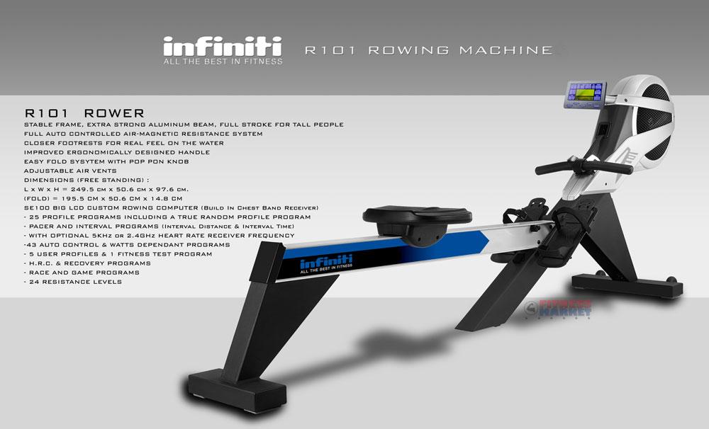 Infiniti R101 Rowing Machine - Promo