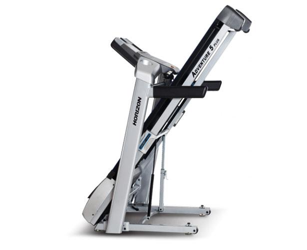 Horizon Adventure 5 Plus Treadmill - Folded Up
