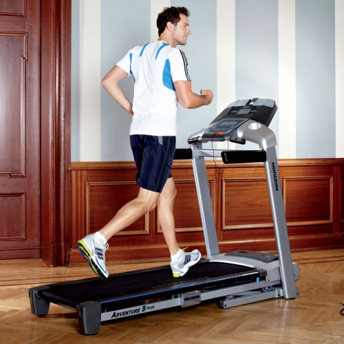 Horizon Adventure 5 Plus Treadmill - Man Running