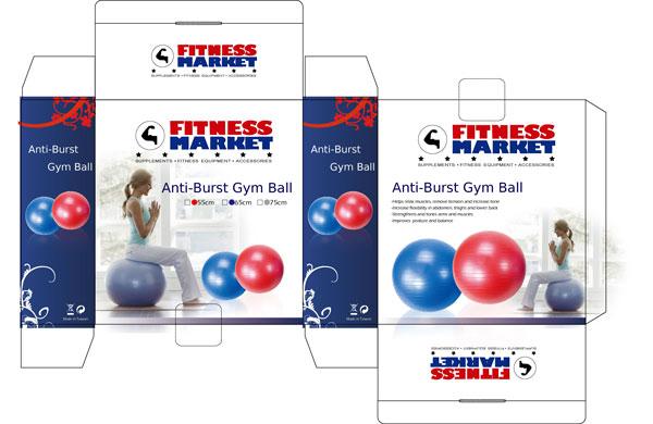 Anti-burst Gym Ball - Buy from Fitness Market Australia 9663844f76d16