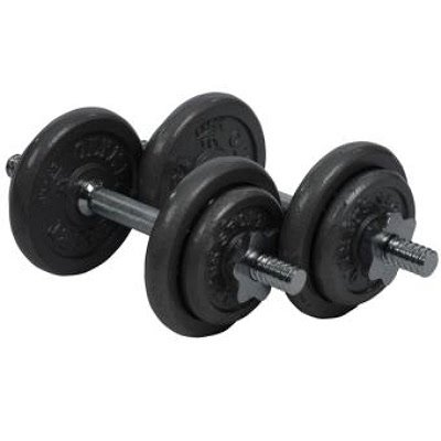 20kg dumbbell set (cast iron)