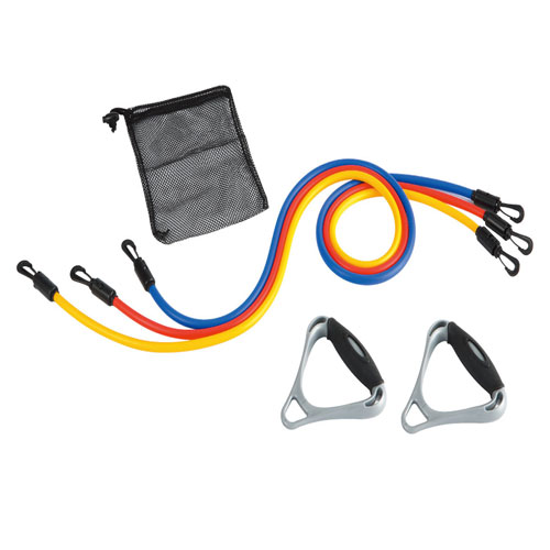 Adjustable Stretch tubes - 3 tubes, handles and carry bag