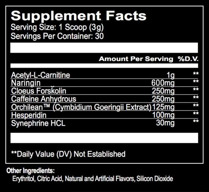 Destroy the Enemy by Run Everything Labs Nutritional Information