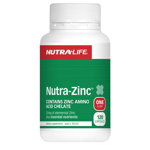 Nutra-Zinc Capsules by Nutra Life.