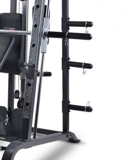 BodyWorx LX4000SM Smith Machine Weight Plate Storage Pegs (Suitable for Olympic and Standard Size)