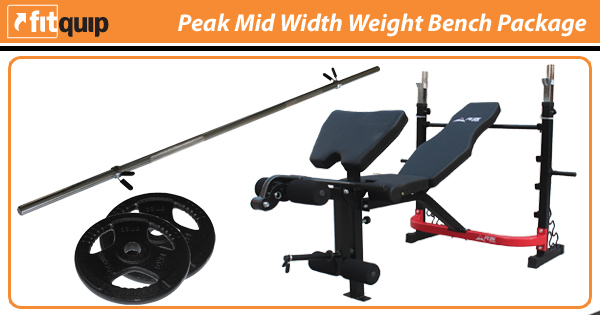 Peak Mid Width Weight Bench Package