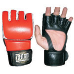Excalibur Leather Open-palm MMA Gloves