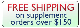 Free Shipping on Supplement orders over $150