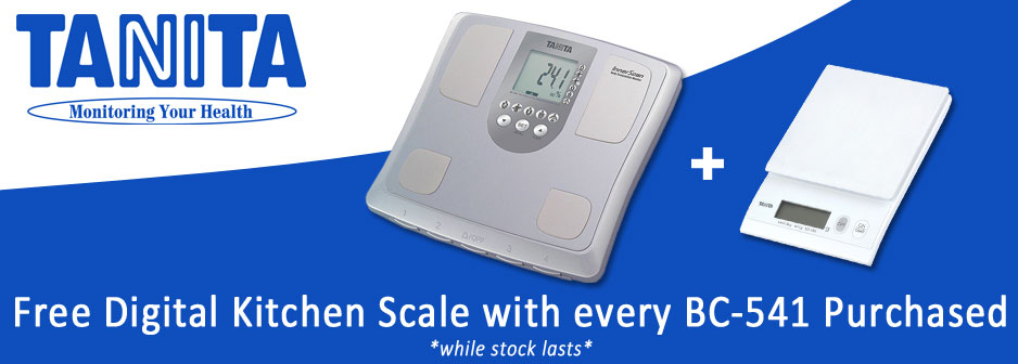 Free Digital Kitchen Scale with every Tanita BC541 Purchase